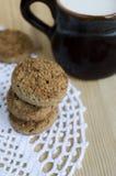 Mini galletas de la harina de avena Imagen de archivo