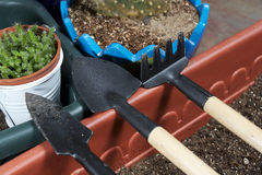 Mini garden tools Royalty Free Stock Photography