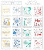 Mini genética del concepto de Infographics e iconos de la bioquímica para el web libre illustration