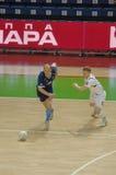Mini-gioco del calcio russo della lega A Fotografia Stock