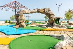 Mini golf on the Black Sea coast in Bulgaria Royalty Free Stock Photography