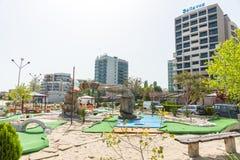 Mini golf on the Black Sea coast in Sunny Beach in Bulgaria stock photos