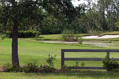 Mini Golf Course. A view of a small golf course used to teach golf course maintenance Royalty Free Stock Photo