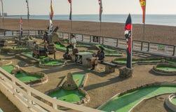 Mini-Golf course on Brighton Beach, England Royalty Free Stock Photos