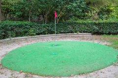 Mini golf course. In the forest royalty free stock photos