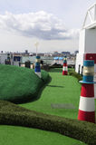 Mini Golf Cruise Ship Course, Fun, Holidays, Denmark Stock Images
