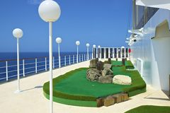 Mini golf on a cruise ship Royalty Free Stock Photography