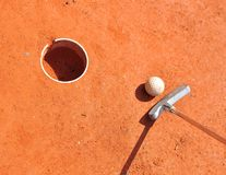 Mini-golf equipment Royalty Free Stock Image