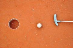 Mini-golf equipment Stock Photo