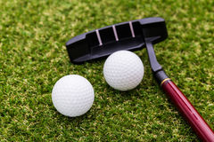 Mini golf equipment Royalty Free Stock Images