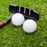 Mini golf equipment Royalty Free Stock Photos
