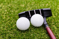 Mini golf equipment Royalty Free Stock Photography