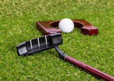Mini golf equipment Stock Photo
