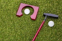 Mini golf equipment Stock Image
