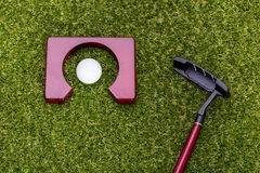 Mini golf equipment Royalty Free Stock Photo