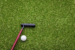 Mini golf equipment Stock Photography