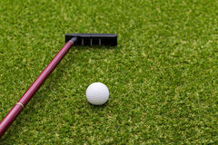 Mini golf equipment Stock Photos