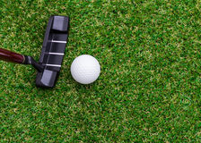 Mini golf equipment Royalty Free Stock Image