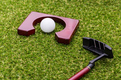 Mini golf equipment Stock Images