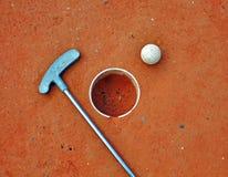 Mini golf equipment Royalty Free Stock Image