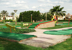 Mini golf field royalty free stock photography
