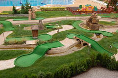 Mini-golf field Stock Images
