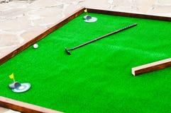 Mini golf field Royalty Free Stock Photography