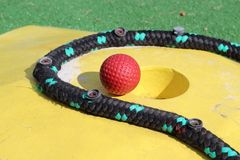Mini golf. Game for children Stock Photography