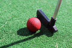 Mini golf. Game for children Royalty Free Stock Photography