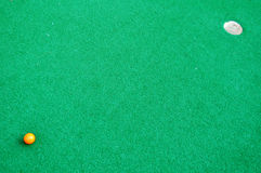 Mini Golf Green Background Stock Images