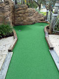 Mini Golf Hole. Challenging Decision Miniature Golf Hole Royalty Free Stock Images