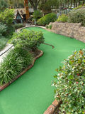 Mini Golf Hole. Challenging Downhill Miniature Golf Hole Stock Photos