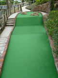 Mini Golf Hole. Challenging Rising Miniature Golf Hole Stock Image