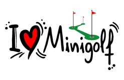 Mini golf love. Creative design of mini golf love Royalty Free Stock Photography