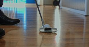 Mini golf at home close-up stock footage