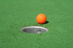 Mini golf one Stock Images