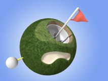 Mini Golf Planet. A mini planet themed to golf Stock Images