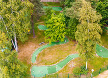 Mini golf playground view from above Stock Image