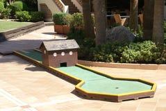 Mini golf szalony golf Zdjęcia Royalty Free
