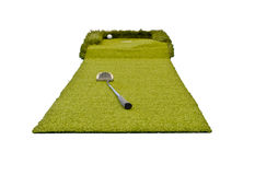 Mini golf on the white Royalty Free Stock Photos