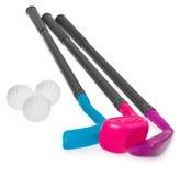 Mini golfa set, zabawka dla dzieci, klingerytu golfa kij i piłki, Zdjęcia Stock