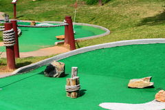 Mini golfcursus Stock Foto's