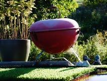 Mini- grillfest på taket av en pråm Royaltyfri Fotografi