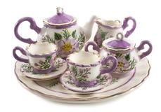 Mini grupo de serviço de chá fotos de stock