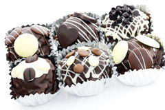 Mini gâteau de chocolat Photos stock