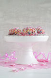 Mini gugelhupf with sugar sprinkles Royalty Free Stock Images