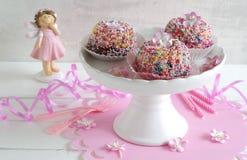 Mini gugelhupf with sugar sprinkles Stock Photos