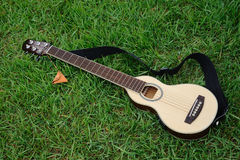 Mini Guitar for Travel Stock Image