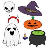 Mini Halloween packe stock illustrationer