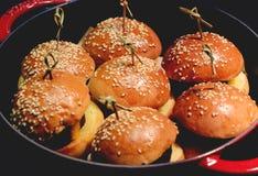 Mini hamburg food Royalty Free Stock Photography